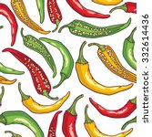 vector pattern peppers   Shutterstock .eps vector #332614436