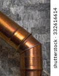 Copper Chimney On Gray Color...