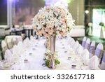 Wedding Flowers On Table Dinner