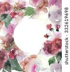 watercolor floral invitation | Shutterstock . vector #332619698