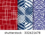 set of 3 abstract patterns.... | Shutterstock .eps vector #332621678