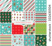 christmas seamless pattern set. | Shutterstock .eps vector #332630504