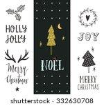 noel. hand drawn christmas... | Shutterstock .eps vector #332630708