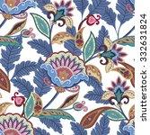 flowers seamless paisley... | Shutterstock .eps vector #332631824