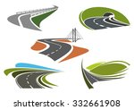 road bridge  highway tunnel ... | Shutterstock .eps vector #332661908