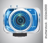 vector image of blue light and... | Shutterstock .eps vector #332663000