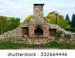 Large Brick Oven In The Garden