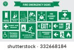 fire emergency signs  emergency ... | Shutterstock .eps vector #332668184