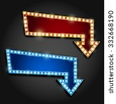 set of red and blue arrows with ... | Shutterstock .eps vector #332668190