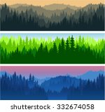 set of vector mountains forest... | Shutterstock .eps vector #332674058
