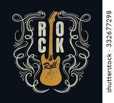 vintage rock and roll... | Shutterstock .eps vector #332677298