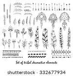 set of tribal decorative...   Shutterstock .eps vector #332677934