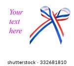 bow tie with uk flag vector... | Shutterstock . vector #332681810