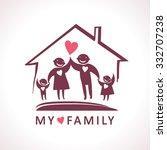 loving my family in home   Shutterstock .eps vector #332707238