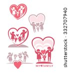 my family. love of parents to... | Shutterstock .eps vector #332707940