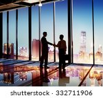 businessmen handshake corporate ... | Shutterstock . vector #332711906