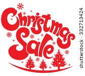 Christmas Sale. Vector Label...