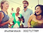 friend friendship dining... | Shutterstock . vector #332717789