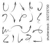 vector hand drawn arrows set | Shutterstock .eps vector #332725730