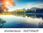 fantastic mountain lake in... | Shutterstock . vector #332733629