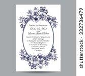 romantic invitation. wedding ... | Shutterstock .eps vector #332736479