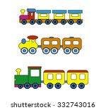 baby trains | Shutterstock .eps vector #332743016