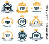 vip club members only logo set | Shutterstock .eps vector #332745203