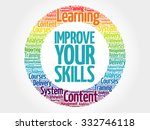 improve your skills circle... | Shutterstock .eps vector #332746118