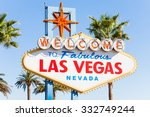welcome sign to las vegas close ... | Shutterstock . vector #332749244