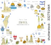 set of hand drawn israel icons  ... | Shutterstock .eps vector #332751464