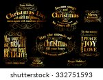 merry christmas and happy new... | Shutterstock .eps vector #332751593