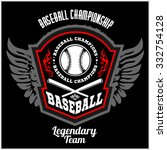 vintage baseball label and... | Shutterstock .eps vector #332754128