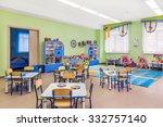 kindergarten  games room and...   Shutterstock . vector #332757140