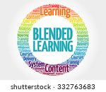 blended learning circle stamp... | Shutterstock .eps vector #332763683