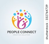 people connect logo ... | Shutterstock .eps vector #332764739