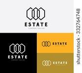 real estate logo vector logo... | Shutterstock .eps vector #332764748