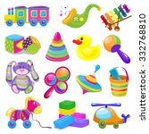 big toys set | Shutterstock .eps vector #332768810