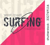 illustration of surf typography ... | Shutterstock . vector #332769116