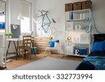 small blue studio for creative...   Shutterstock . vector #332773994