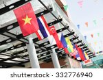flags of southeast asia... | Shutterstock . vector #332776940