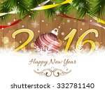happy new year 2016 wishes with ... | Shutterstock .eps vector #332781140