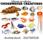 different kind of sea animals...