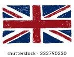freehand drawn british flag. ... | Shutterstock .eps vector #332790230