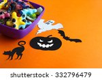 colorful jelly candies in the... | Shutterstock . vector #332796479