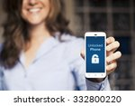 unlocked phone notification in... | Shutterstock . vector #332800220