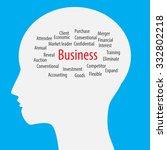 head idea business   finance... | Shutterstock .eps vector #332802218