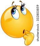wonder female emoticon | Shutterstock .eps vector #332803859