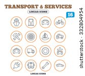 transport and services icons.... | Shutterstock .eps vector #332804954