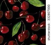 cherry seamless background | Shutterstock . vector #332807000