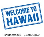 hawaii blue square grunge... | Shutterstock .eps vector #332808860